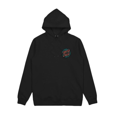 SANTA CRUZ Check Waste Dot Pop Youth Hood Black