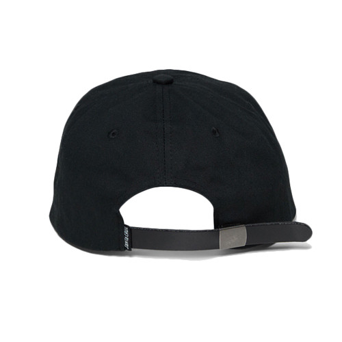 SANTA CRUZ Flameing Oval Dot 6 Panel Cap Black