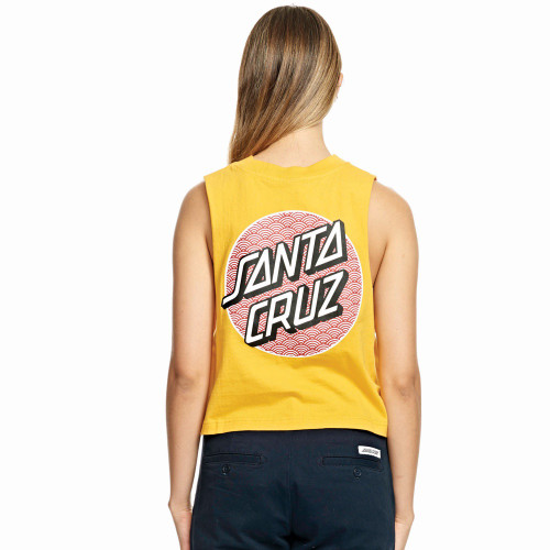 SANTA CRUZ Monyo Dot Crop Muscle Top Sunshine