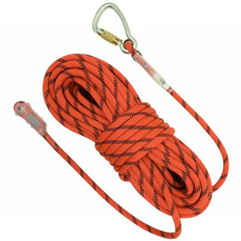 Kong Static Rope 25m length with loops and one carbon steel connector