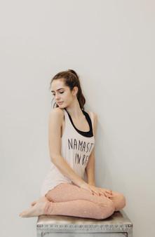 Namastay In Bed Print Deep Scoop Back