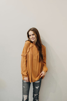 Keyhole Front Ruffle Top
