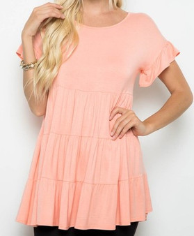 Flare Short Sleeved Top