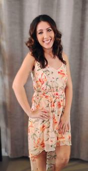 Hi-Low Floral Dress