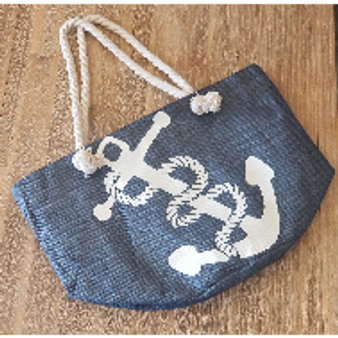 Anchor Straw Tote
