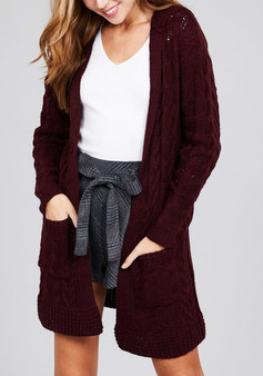Cardigan with Hoodie