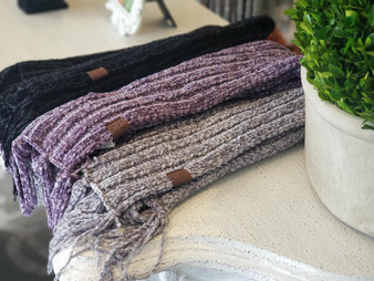 CC Chenille Scarf with Fringe