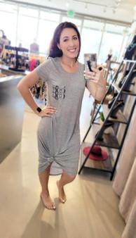 Dress with Animal Print Pocket