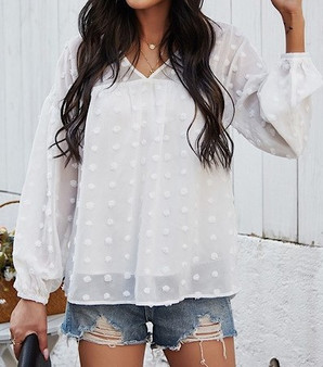 Dotted Blouse Top