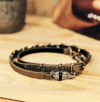 Deco Leather Wrap Bracelet