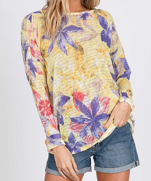 Floral Back Twist Top