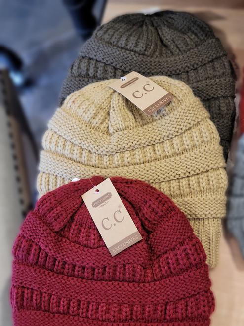 CC Fuzzy Line with Knit Beanie