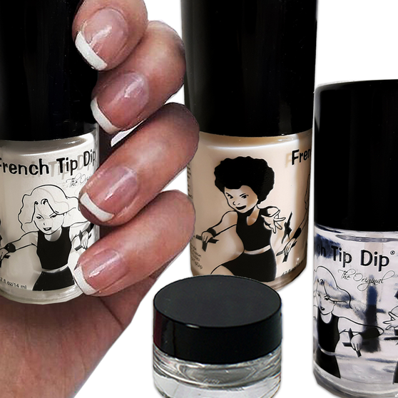 French Tip Dip Classic French Manicure Nail Polish