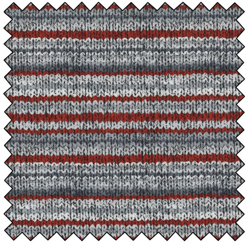 Gray Red Knit - GRAY RED MULTI