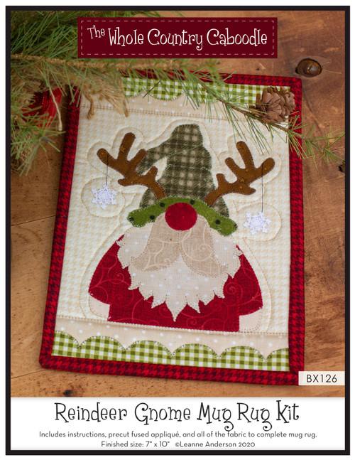 Reindeer Gnome Mug Rug Kit
