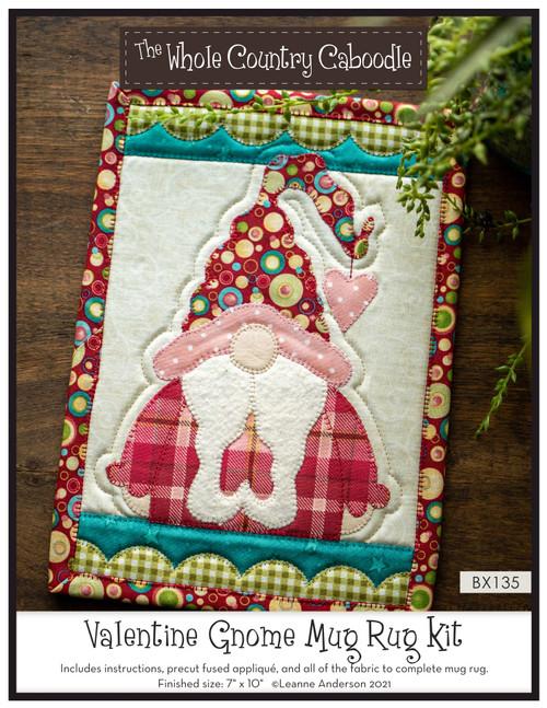 Valentine Gnome Mug Rug Kit