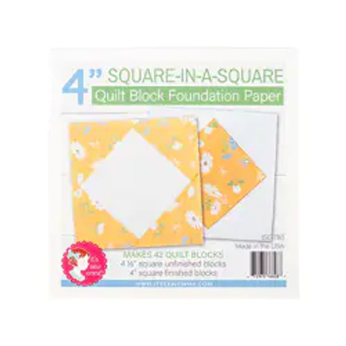 """Square in a Square Quilt Block Foundation Paper - 4"""""""