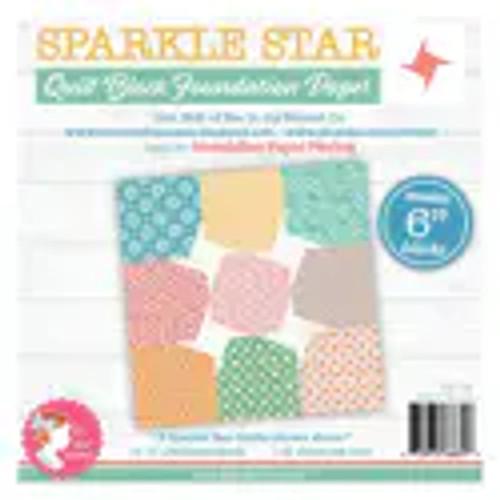 "Sparkle Star Quilt Block Foundation Paper - 6"""