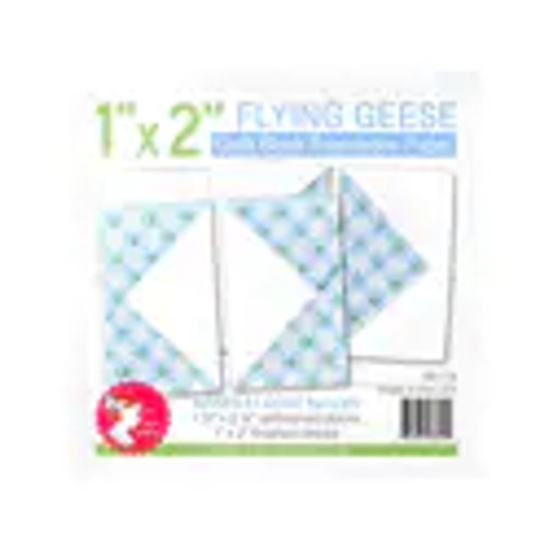 """Flying Geese Quilt Block Foundation Paper - 1"""" x 2"""""""