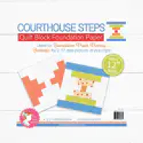 """Courthouse Steps Quilt Block Foundation Paper - 12"""""""