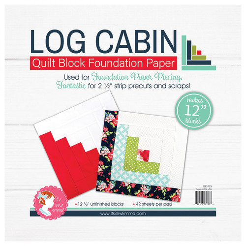 "Log Cabin Quilt Block Foundation Paper - 12"""