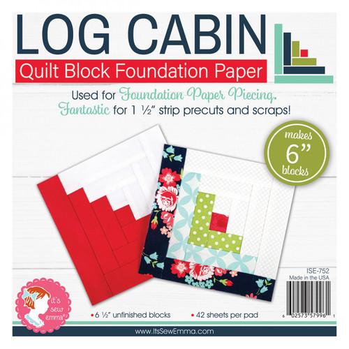 "Log Cabin Quilt Block Foundation Paper - 6"""