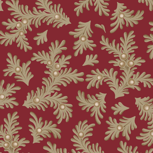 RUBY - FEATHERED LEAVES - RUBY