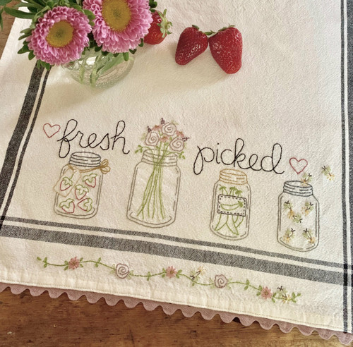 EMBROIDERED DISH TOWEL - Fresh Picked