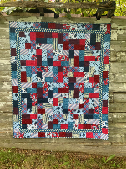 Hockey Night In The Stable Hopscotch Quilt