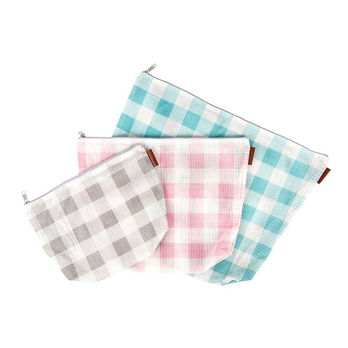 Gingham on the Go - 3 Piece Project Bag Set