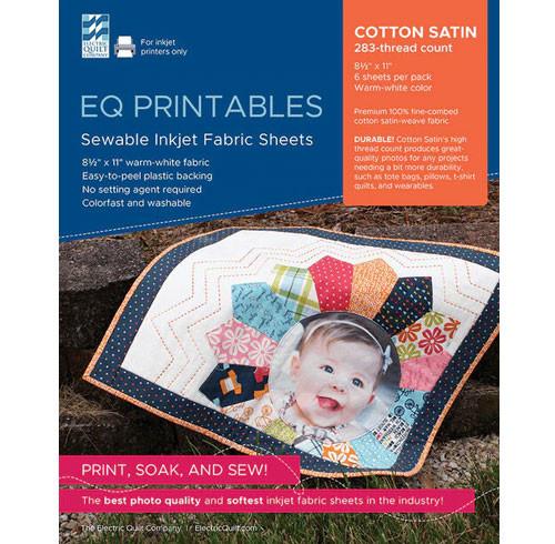 EQ Printables - Cotton Satin - 6 Sheets
