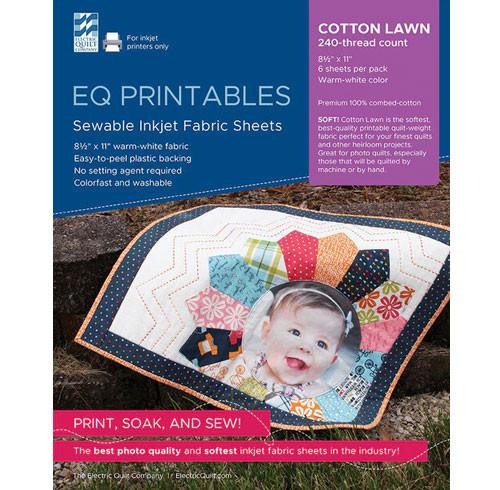 EQ Printables - Cotton Lawn - 6 Sheets