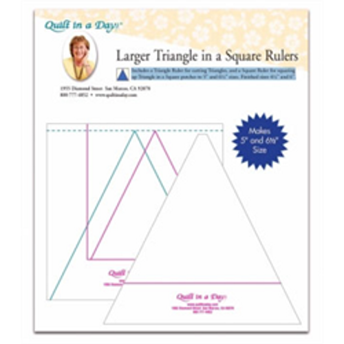 Larger Triangle in a Square Ruler