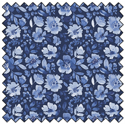 Classic Blue Floral - NAVY
