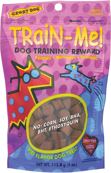 Crazy Dog Train-Me! Training Rewards Beef Flavor