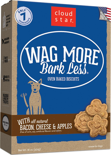 Wag More Bark Less Bacon Cheese & Apple Oven-Baked Biscuits
