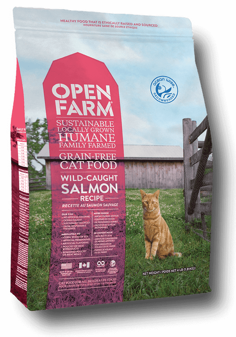 Open Farm Wild Caught Salmon Grain-Free Recipe for Cats