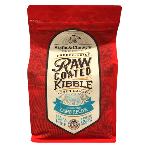 Stella & Chewy's Grass Fed Lamb Recipe Raw Coated Kibble