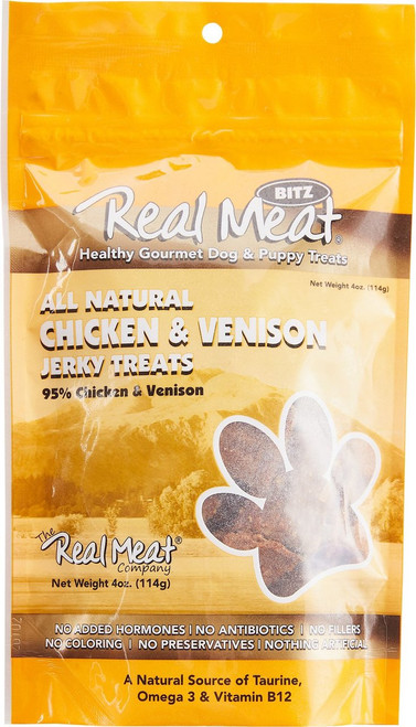 Real Meat Chicken and Venison Jerky Treats