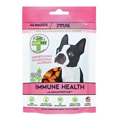 Reilly's HempVet Rewards+ Soft Chews Immune Support 2.11 Ounces