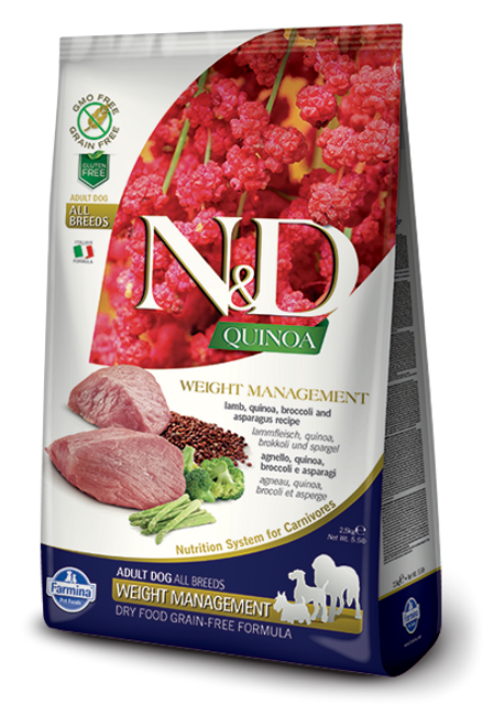 Farmina N&D Functional Quinoa Weight Management Lamb Dry Dog Food