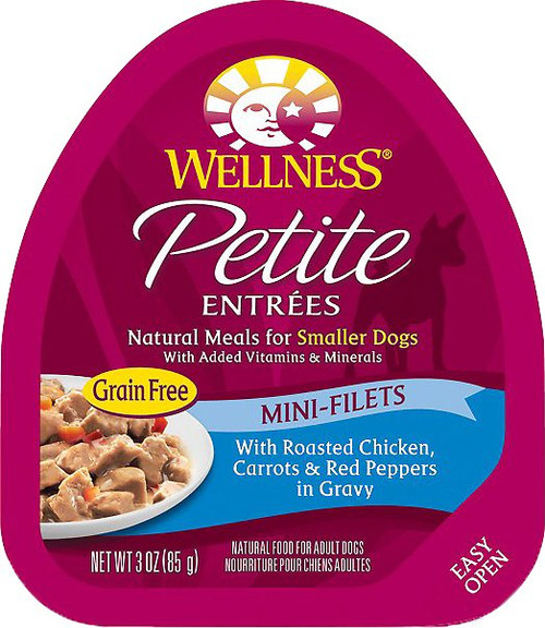 Wellness Petite Entrees Grain Free Mini-Filets with Roasted Chicken, Carrots and Red Peppers in Gravy