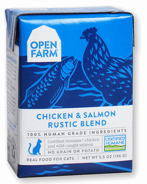 Open Farm Chicken & Salmon Rustic Blend Stew for Cats