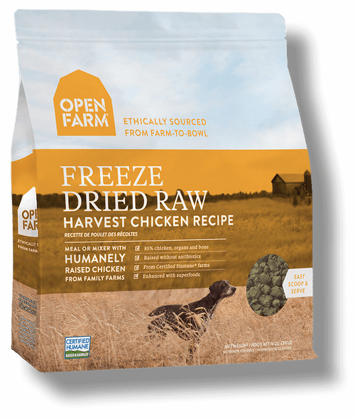 Open Farm Harvest Chicken Recipe Freeze-Dried Raw Food