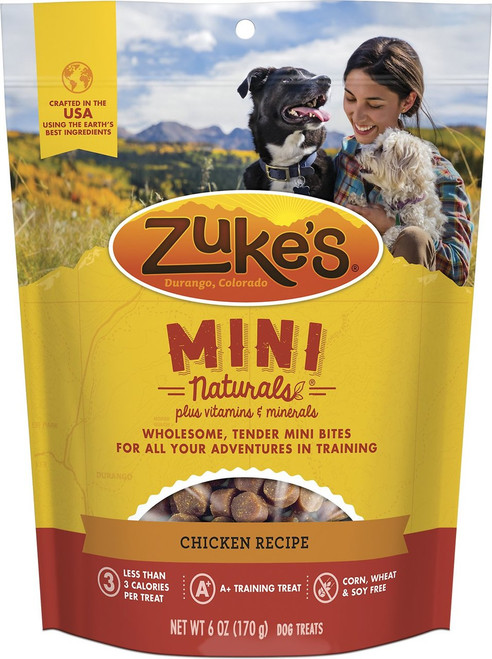 Zuke's Mini Naturals Chicken Recipe Training Treats