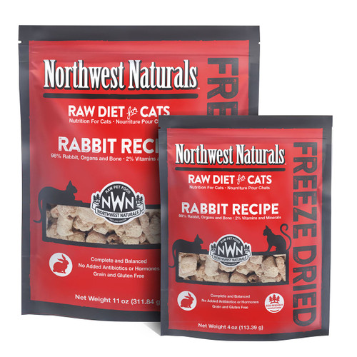 Northwest Naturals Freeze Dried Rabbit Recipe for Cats