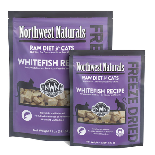 Northwest Naturals Freeze Dried Whitefish Recipe for Cats