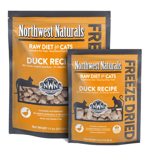 Northwest Naturals Freeze Dried Duck Recipe for Cats
