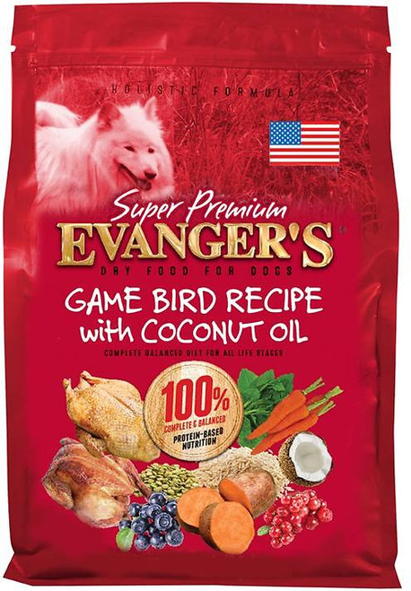 Evanger's Super Premium Gamebird with Coconut Oil Dry Dog Food