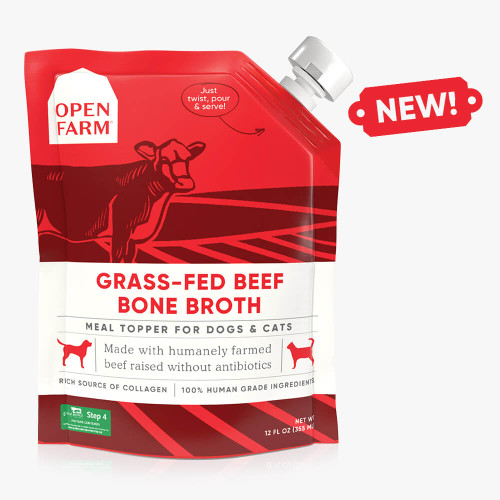 Grass-Fed Beef Bone Broth for Dogs and Cats